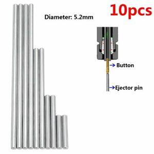 Ejector Pins Chucking Reamer Pushing Rifling Buttons 5.2mm 10pcs Machine Tools