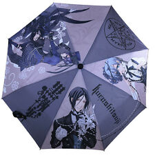 Black Butler Foldable Umbrella Kuroshitsuji Ciel Sebastian Anime Manga-style New