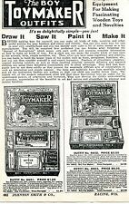 1928 small Print Ad of The Boy Toy Maker Outfits draw it saw it paint it make it