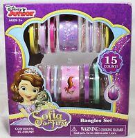 Disney Junior Sofia the First Bangles Set - 15 Bracelets - NEW IN BOX