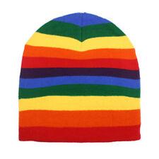 f3fdc24283d Rainbow Beanie Hat - Colorful Soft Warm Daily Headwear Cap