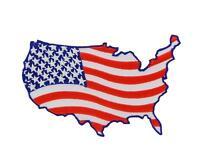 Patch ecusson brode thermocollant drapeau carte etats unis americain usa