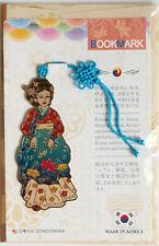 Traditional Korean reader Metal Bookmark - HanBok Style(Red and Aqua)