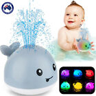 Baby Bath Toys  Whale Automatic Spray Water Bath Toy with LED Light