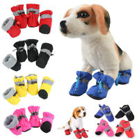 4pcs Winter Pet Dog Footwear Rain Shoes Shoes Cover Snow Boots Warm Outdoor New