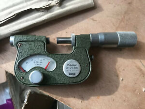 Used dial indicating micrometer 0-25mm with resolution 0.001 510-101A