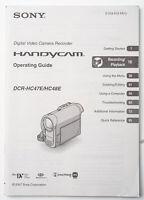 Bedienungsanleitung Sony  Camera DCR-HC47E HC48E Instruction operating guide