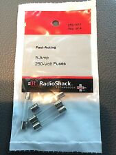 """5.0A 250V FAST-ACTING 1¼X¼"""" GLASS FUSE (4-PACK) (270-1011)"""