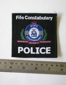 Obsolete British police patch for the Fife Constabulary in Scotland, 3.5 inch