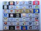 ALPHABETICALLY (Q-Z) Nintendo 64 N64 Authentic Tested Super Mario Smash Zelda