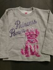 Hanes Girls Princess Power Grey Shirt Size-7/8