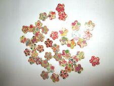 Flower shaped buttons - various designs - 44 buttons