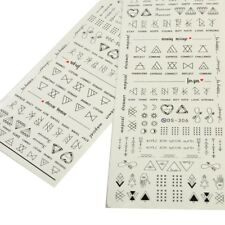 2 Sheets/Set Nail Art Transfer Stickers 3D Design Manicure Tips Decal DIY Decor