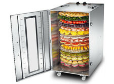 220V 16 Layer Commercial Rotate Dried Fruit Machine Food Dehydrator Meat Dryer