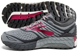 Brooks Ariel 18 Womens Grey/Grey/Pink multiple 2 E (extra wide) sizes New In Box