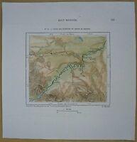 1892 Perron map UPPER MISSOURI RIVER, NEAR GREAT FALLS, MONTANA (#82)