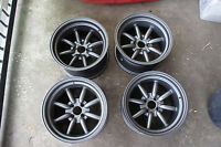 "For Miata NA mx5 na8c na6c e30 civic rs JDM 15"" Retro banana Style wheels rim"