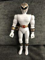 "1993 MMPR Power Rangers White Ranger 8"" Bandai Action Figure"