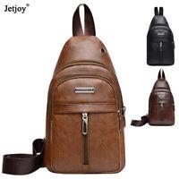 Fashion Leather Crossbody Shoulder Bag Men Chest Diagonal Package Messenger Bag