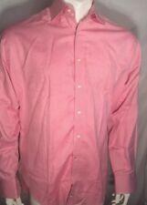 Tailorbyrd Mens Large Designer Button Up Long Sleeve Pink Shirt