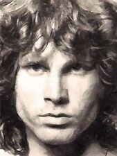 Impresión Pintura Retrato Cantante músico Jim Morrison Doors Lizard King nofl0121