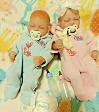 BABY TWINS  11 IN REBORN VINYL BOY AND GIRL  TINY CUTE  ANATOMICAL
