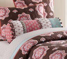 Pottery Barn Kids Brooklyn F/Q Quilt, 2 shams, decorative pillow, drapes, duvet