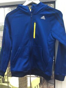Boys Blue &Yellow  Adidas Tracksuit Top Hoodie Age 11 - 12 years