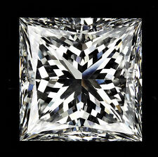 3.02 carat Princess cut Diamond GIA F color VS1 clarity no fl. Excellent loose