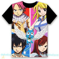 Anime Fairy Tail Cosplay Clothing Casual Short Sleeve Unisex T-Shirt Tops #GS12