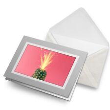 Greetings Card (Grey) - Cool Sparkler Pineapple  #3845
