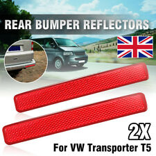 Red Lens Rear Bumper Reflector Assembly Light L + R For VW Transporter T5 03-11