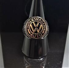"925 Sterling Silver Exclusive Design ""VOLKSWAGEN"" Car Logo Men's Ring"