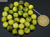 Natural Yellow Turquoise Gemstone Round Beads 16'' 2mm 4mm 6mm 8mm 10mm 12mm