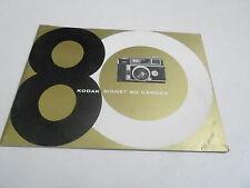 1950s/1960s CAMERA manual #20 - KODAK SIGNET 80