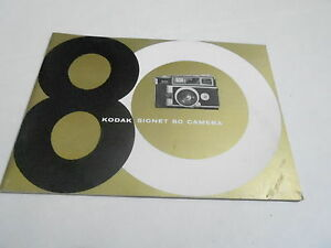 1950s/1960s CAMERA manual #20 - KODAK SIGNET 80
