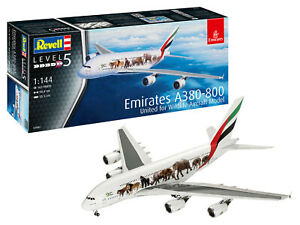 """Revell 03882 Airbus A380-800 Emirats Arabes """" Sauvage Vie """",Flugzeugmodell 1:144"""