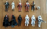 """Lot of 11 Star Wars The Force Awakens Black Series 6"""" action figures, loose"""