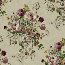Montage Floral Trail Sketch Roses Vase Wallpaper NP6303 - Priced per Double Roll