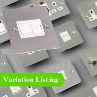 Flat Plate Satin Stainless Steel Electrical Switches & Sockets / Menu Options