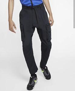 MEN'S NIKE ACG WOVEN CARGO PANTS BLACK CD7646-010 Size XL
