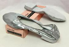 Body Wrappers Angelo Luzio Veena Silve Metallic Foldable Slippers, Womens 9M New