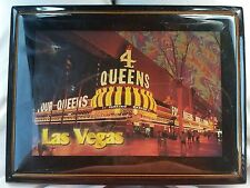 4 Queens Four Hotel Casino Las Vegas Postcard Plaque Framed Wall Hanging