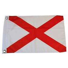 State of Alabama 12 X 18 Polyester Flag with Grommets #S37