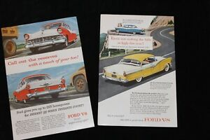 Two Vintage Ads for 1956 Fords