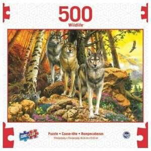 SURE LOX 500 PIECE WILDLIFE COLLECTION WOLF MOTHER AND CUBS  48.26CM x 33.02CM