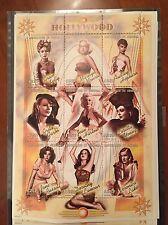 Senegal, miniature sheet, famous actresses, sexy, MNH, Hollywood