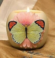 Ibis & Orchid Votive Holder, Orange-Tipped Butterfly (21035)