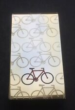 NEW Metallic Men's Gold Bicycle Pattern Money Clip