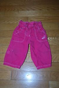 Next Baby Girl Pants/Roll Up Cropped Pants, Hot Pink, Cotton, Size 3-6 months